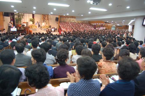 2007.8.13 평화통일 남북기도주일 연합예배 모습