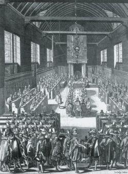 Synod of Dordrecht (1729) by Bernard Picart