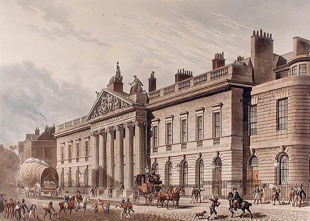 런던에 있던 영국 동인도 회사의 본사