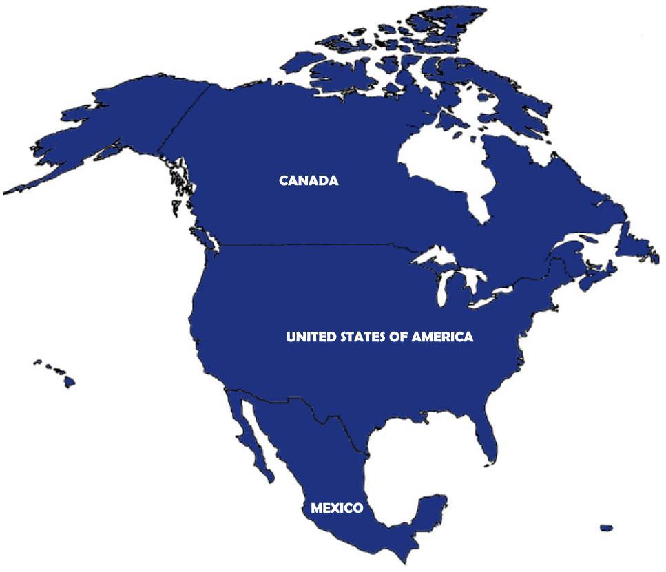 clipart map north america - photo #16